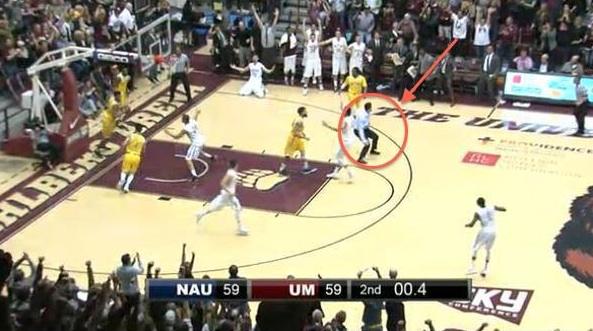 Montana coach on court vs NAU