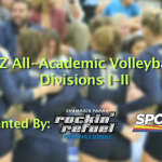 The 2015 All-Academic Volleyball Team for Divisions I-II