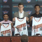 Suns Introduce Rookie Trio