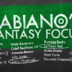 Fabiano's Fantasy Focus: Week 12, Volume II