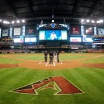 MLB Commissioner Rob Manfred visits Chase Field
