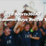2018 All-Academic Boys Soccer Team