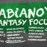 Fabiano's Fantasy Focus: Week 10, Volume I
