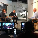 "Brad Chats with Matt Damon & Christian Bale in ""Ford vs Ferrari"""