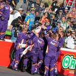 Denny Hamlin Makes Walk-off Win in Bluegreen Vacations 500