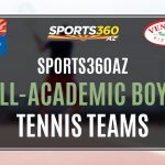 NOW TAKING NOMINATIONS FOR ALL-ACADEMIC BOYS TENNIS TEAMS