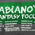 Fabiano's Fantasy Focus: Week 12, Volume I